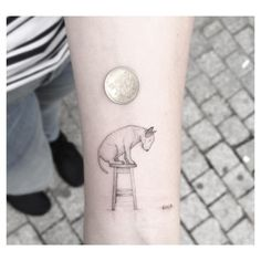 """Original illustration belongs to Rafael Mantesso who created this for Jimmy Choo's Capsule Collection ✌️ #bullterrier #smalltatt #smalltattoo #btattooing…"""