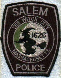 """""""Salem The Witch City Police"""" patch."""