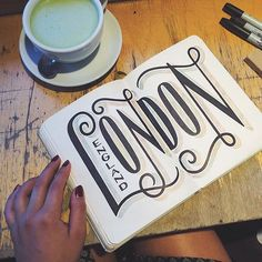 Hand lettered typography from @cupoftj on Instagram.