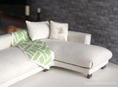 How to: Miniature sectional sofa. More