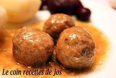 Le coin recettes de Jos: RAGOÛT DE BOULETTES À LA MIJOTEUSE Meatball Recipes, Meat Recipes, Slow Cooker Recipes, Cooking Recipes, Recipies, Slow Cooking, Canadian Food, Canadian Recipes, Ground Beef Recipes