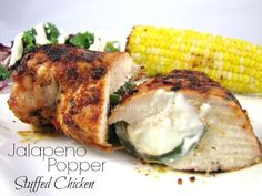 Jalapeño Popper Stuffed Chicken Breasts! (Oven or grill) These are the most delicious chicken breasts!