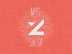 Unique Logo Design, Mrs. Z Salsa #Logo #Design (http://www.pinterest.com/aldenchong/)
