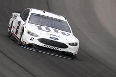 Brad Keselowski claims Toyota is sandbagging after qualifying at Michigan International Speedway. The Ford driver offers his theory on sudden lack of speed Nascar Race Cars, Nascar Sprint Cup, Brad Keselowski, Garage Bike, Joey Logano, Monster Energy Nascar, Racing News, Car And Driver, Retro Cars