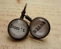 Doctor Who earrings at Etsy