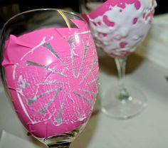 Dandelion Etched Wine Glasses :: Hometalk