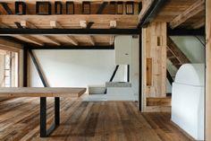restored barn, italian alps
