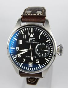 The IWC Big Pilot 5002 has a preposterously clock-like dial. About $10,000.