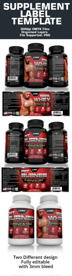 Supplement Label Template - #Packaging Print Templates Download here: https://graphicriver.net/item/supplement-label-template/15223778?ref=classicdesignp