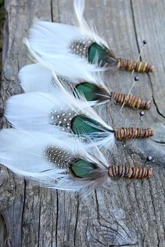 Your place to buy and sell all things handmade Feather Painting, Feather Art, Feather Jewelry, Feather Necklaces, Feather Wreath, Feather Boutonniere, Groom Boutonniere, Boutonnieres, Indian Feathers