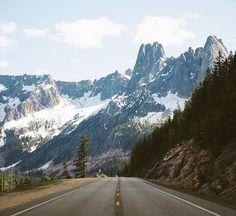 Driving through the North Cascades
