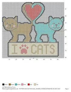 Poor cat can't sleep because his buddy won't stop snoring Plastic Canvas Coasters, Plastic Canvas Ornaments, Plastic Canvas Christmas, Plastic Canvas Crafts, Plastic Canvas Patterns, Cross Stitching, Cross Stitch Embroidery, Cross Stitch Patterns, Embroidery Patterns