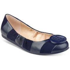 Tommy Hilfiger Emi Ballet Flats ( 48) ❤ liked on Polyvore featuring shoes,  flats, dark blue, ballerina pumps, tommy hilfiger, ballet shoes, striped  ballet ... 18655885fe