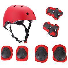 elesky Sport réglable de protection Gear Set de sécurité de sauvegarde (genou Coude Poignet) Casque pour enfant Youth Skateboard Roller…