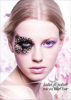/ Set Colorful Feather False Eyelashes for Party Makeup or Exaggerated Maquiagem White Spots Feather Eyelashes lqq Feather Eyelashes, Fake Lashes, False Eyelashes, Eyelashes Makeup, Party Makeup, Eye Makeup, Hair Makeup, Exotic Makeup, Makeup Ideas