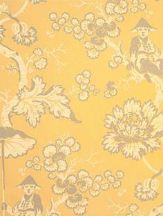 DecoratorsBest - Detail1 - Scala WP88216-002 - Parapluie - Ivory, Pewter On Pearl Gold - Wallpaper - DecoratorsBest