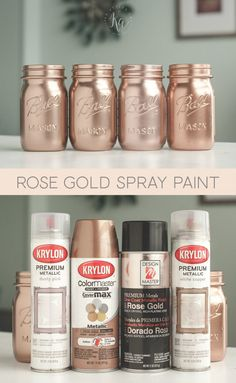 Rose Gold Spray Paint color, - Decoration For Home Spray Paint Rose Gold, Rose Gold Painting, Spray Paint Colors, Spray Painting, Painting Tricks, Paint Colours, Spray Paint For Metal, Rose Gold Metallic Paint, Spray Paint Flowers