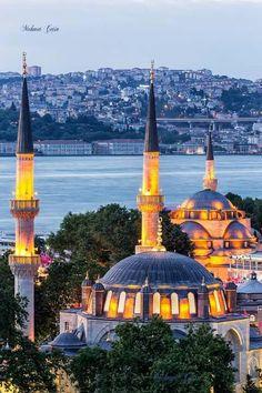 ✿ ❤ Eyüp Sultan Camii, Bosphorus, Istanbul .