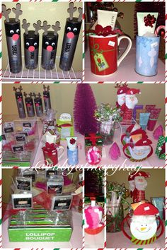 $10 and under Gift Table! Mary Kay products  Don't forget to show appreciation to your Day Care provider, kids teacher, neighbors, and co-workers this Christmas!  Men. Women. Teens. Stocking stuffers. Christmas gifts.