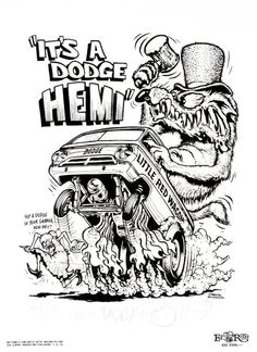"""1992 rat fink coloring book ed """"big daddy"""" roth - Bing Images Rat Fink, Cars Coloring Pages, Coloring Books, Colouring, Adult Coloring, Ed Roth Art, Weird Cars, Kustom Kulture, Airbrush Art"""