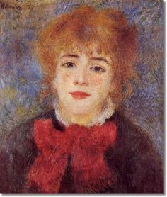Pierre Auguste Renoir - Pierre-Auguste Renoir French Impressionist Painting - Jeanne Samary 1877 Painting