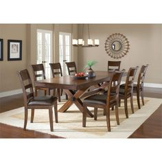 Hokku Designs Delayne 9 Piece Dining Set & Reviews  Wayfair Unique 9 Piece Dining Room Design Inspiration