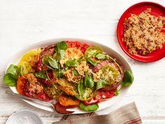 Tomato Caesar Salad With Bacon-Parmesan Crisps Recipe-Food Network MAgazine-anchovies, garlic, tomatoes, parmesan-yum!!!