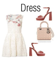 """""""373"""" by meldiana ❤ liked on Polyvore featuring RED Valentino, MANGO and Christian Dior"""