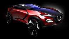Nissan Gripz Concept Design Sketch Render