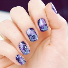 #NailArt we love: Galaxy-Inspired Tips #SelfMagazine. Whoa.