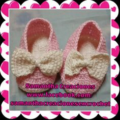 Zapatitos en #crochet