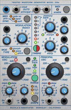 クリックしてBuchla 259e Twisted Waveform Generatorを表示