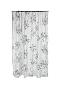 Kevatesikko Black shower curtain by Marimekko #ModernsPIN