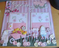 Going Buggy: Little Girl's Scrapbook Page...