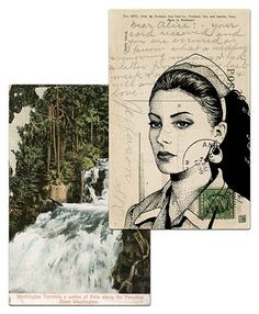 Twin Peaks postcards by Paul Willoughby - Shelly Johnson