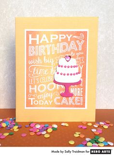 Ombré birthday card by Sally Traidman