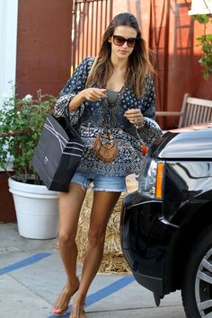 Alessandra Ambrosio at Brentwood Country Mart