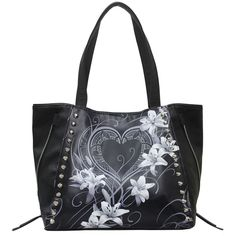 Pure Of Heart Tote Bag Top Quality Pu Leather Studded Unique Purses, Cute Purses, Luxury Handbags, Fashion Handbags, Louis Vuitton Handbags, Purses And Handbags, Leather Purses, Pu Leather, Skull Purse