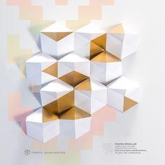 #3DWalldecor La imaginación no tiene límites al erigir esta escultura de papel. Haz tu propio mosaico de figuras de origami apilando una a una las piezas. Puedes imprimir la figura al tamaño que desees y las veces que sean necesarios. No hay límites.  Un diseño de Symme Crafts. #VerticalGarden #Papercraft #decor #Funghy #jardínvertical #jardín #mural #Origami #Gold #dorado #paper #mexico #mushrooms #setas #cordoba