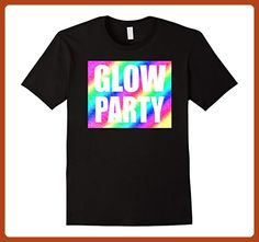Mens Neon Party Shirt For Rave Glow Birthday T Large Black