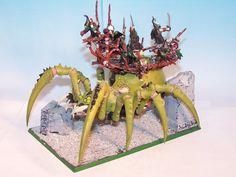 WARHAMMER FANTASY ARMIES - ORCS AND GOBLINS ARACHNAROK SPIDER PAINTED #2   eBay