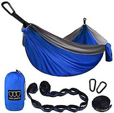Outdoor Furniture Frugal Single Double Hammock Adult Outdoor Backpacking Travel Survival Hunting Sleeping Bed Portable With 2 Straps 2 Hammock Carabiner Buy One Get One Free