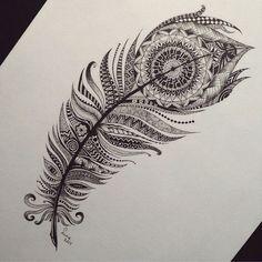 feather zentangle spine tattoos - Google 검색