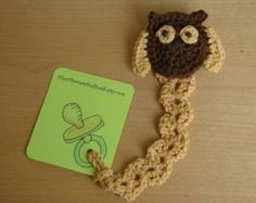 crochet pacifier clip tutorial - Google Search