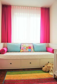 pink curtains for girl