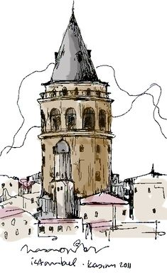 color pictures of publika (Urban Sketches) www.armadaistanbul.com www.armadaistanbulculture.com