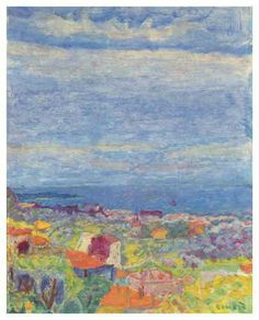 Bonnard_Pierre__Vue_de_Cannet Watercolor Paintings Abstract, Impressionist Paintings, Watercolor Artists, Painting & Drawing, Painting Lessons, Abstract Oil, Pierre Bonnard, Henri Matisse, Chagall Paintings