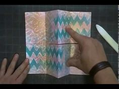 Mixed Media Mini Video - This would be a great way to make cards, minus the book part.