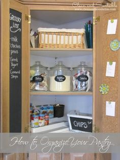 Pantry Organization {The Household Organization Diet} - Clean and Scentsible