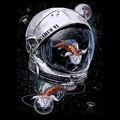 Space Koi by DrSpazmo by Design-By-Humans on @DeviantArt